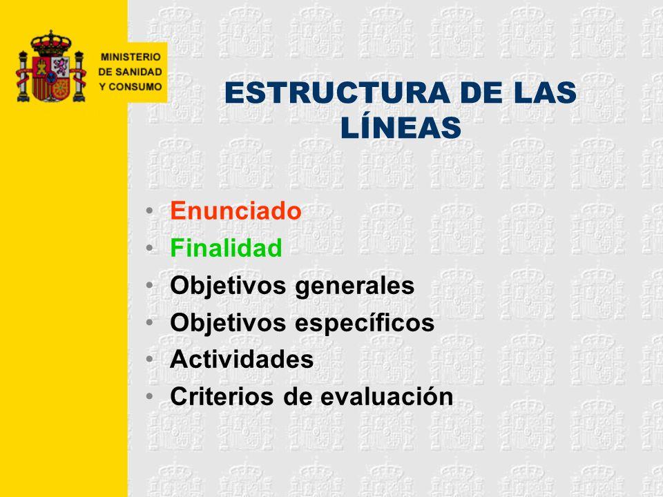 ESTRUCTURA DE LAS LÍNEAS
