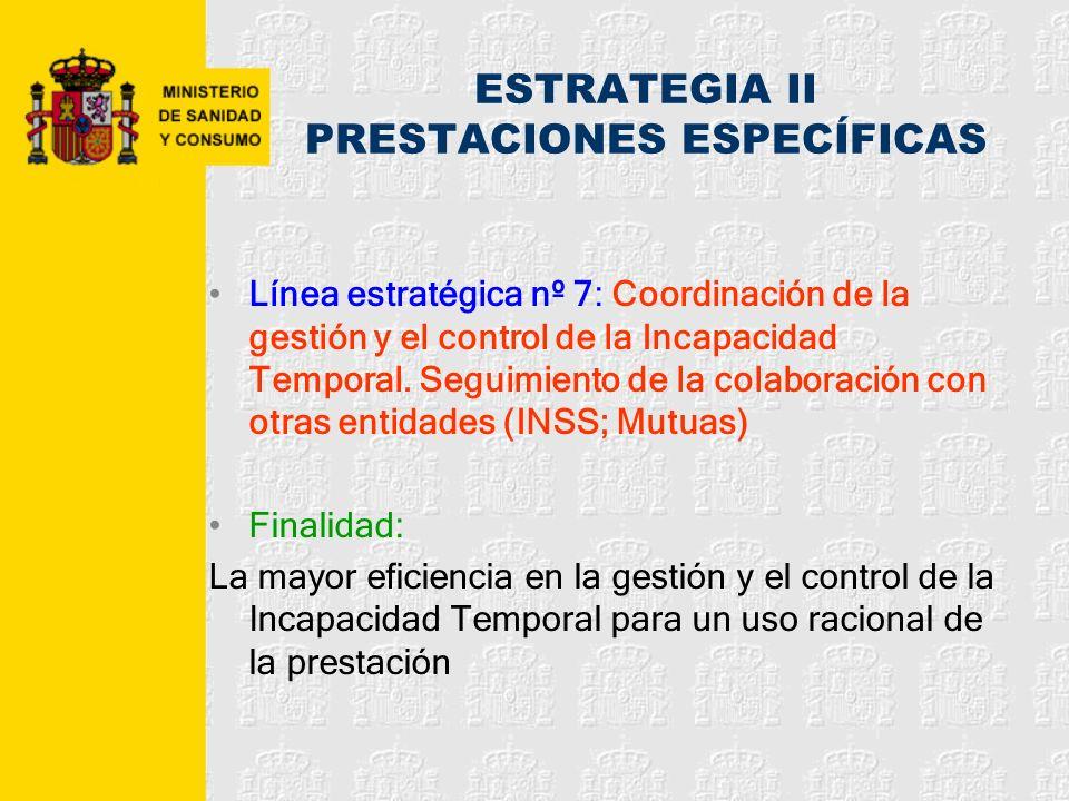 ESTRATEGIA II PRESTACIONES ESPECÍFICAS