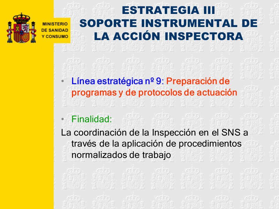 ESTRATEGIA III SOPORTE INSTRUMENTAL DE LA ACCIÓN INSPECTORA
