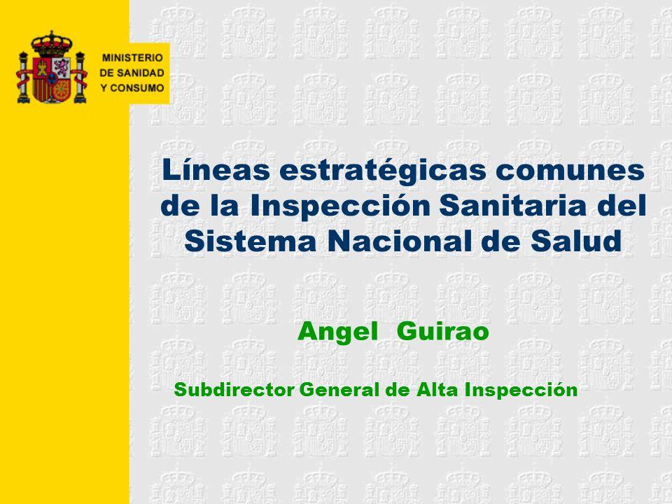 Angel Guirao Subdirector General de Alta Inspección