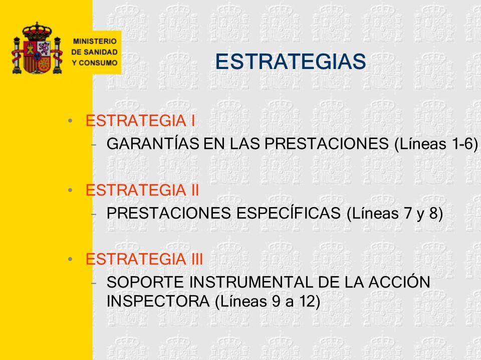 ESTRATEGIAS ESTRATEGIA I GARANTÍAS EN LAS PRESTACIONES (Líneas 1-6)