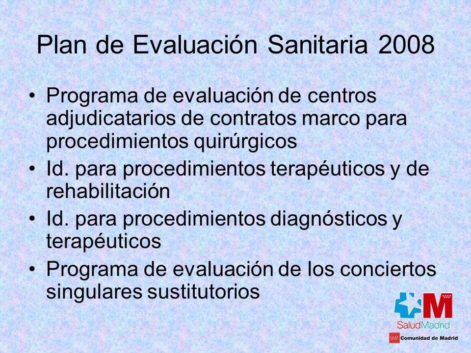 Plan de Evaluación Sanitaria 2008