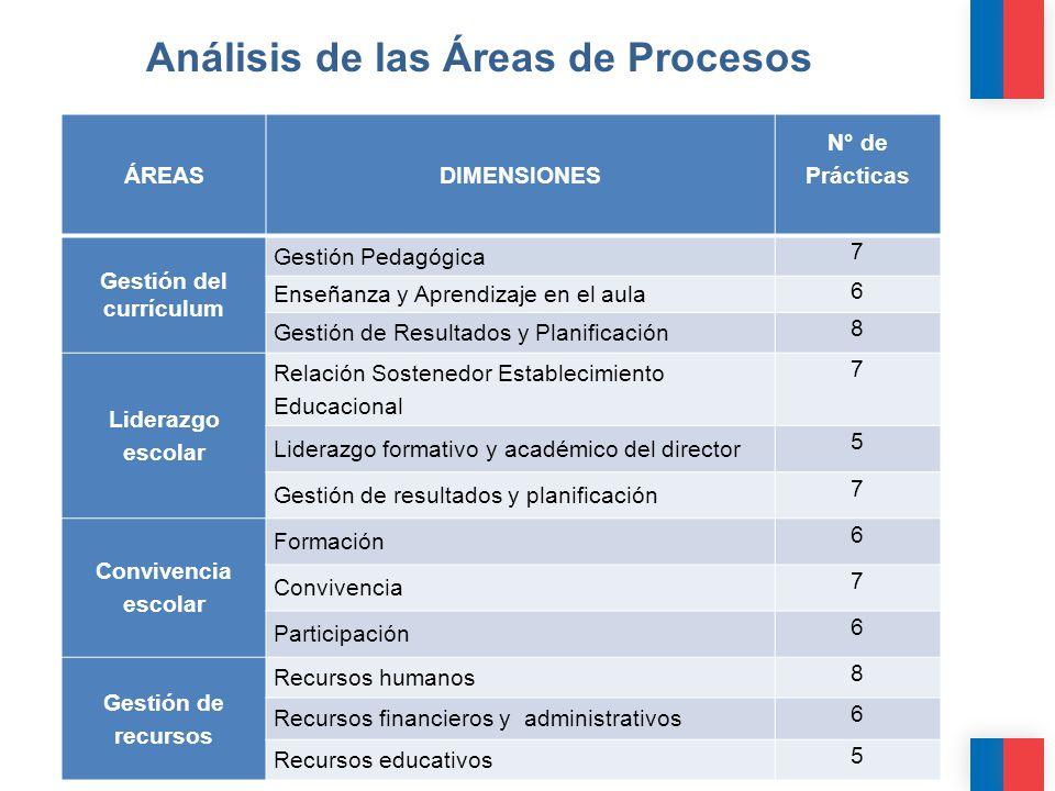 Análisis de las Áreas de Procesos