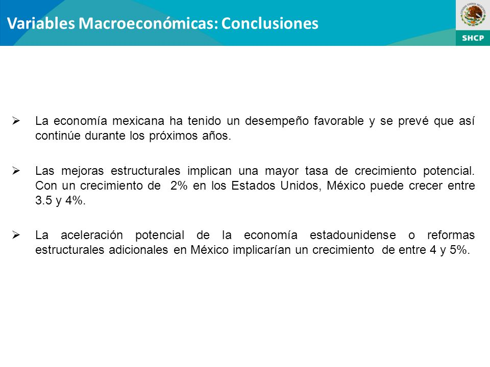 Variables Macroeconómicas: Conclusiones