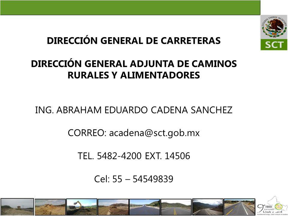 DIRECCIÓN GENERAL DE CARRETERAS