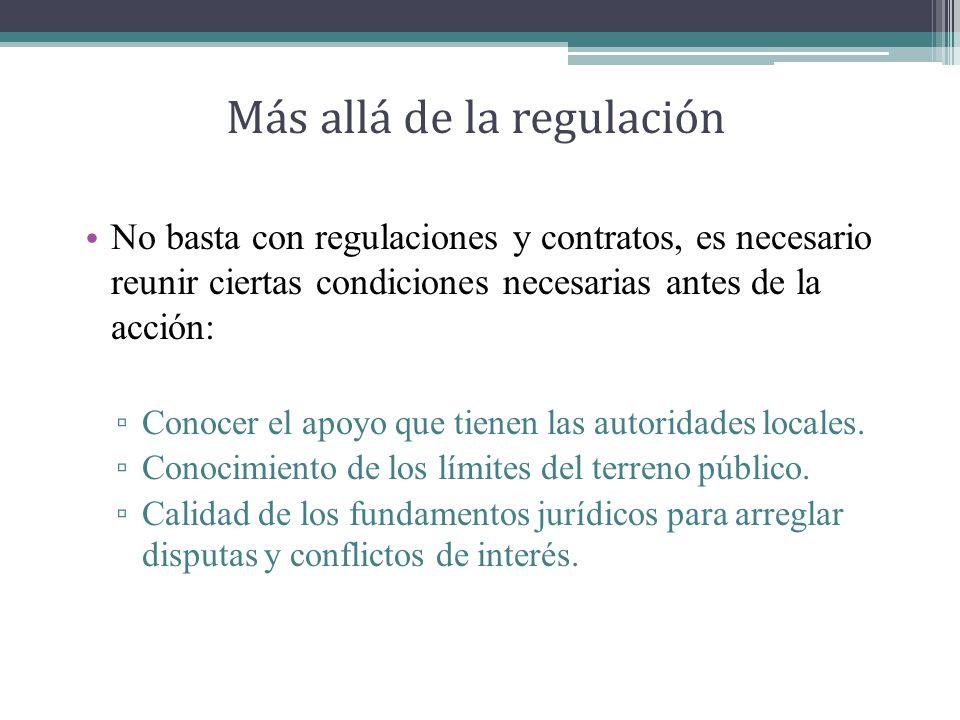 Más allá de la regulación