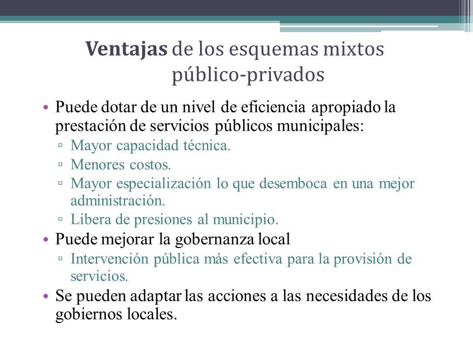 Ventajas de los esquemas mixtos público-privados