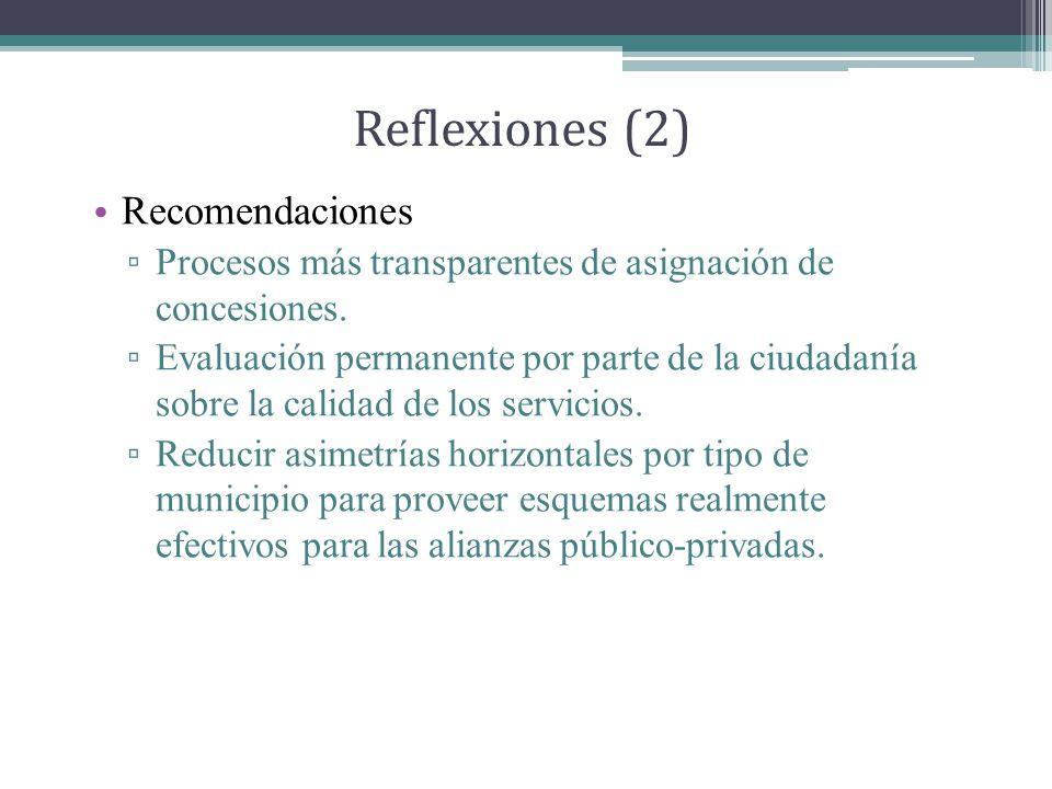 Reflexiones (2) Recomendaciones