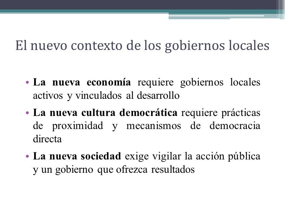 El nuevo contexto de los gobiernos locales