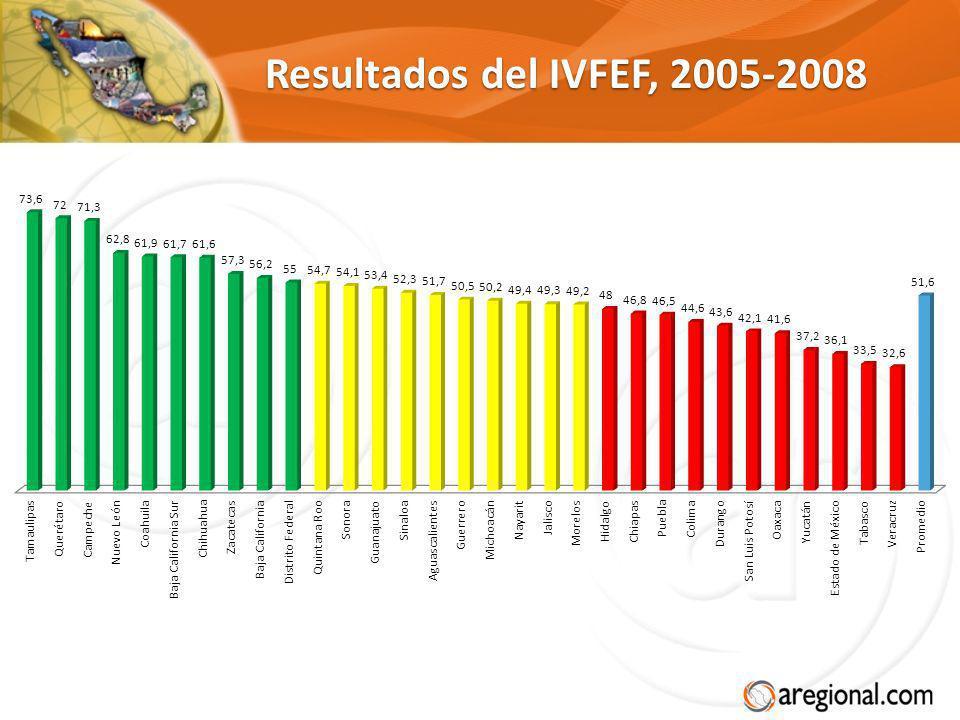 Resultados del IVFEF, 2005-2008