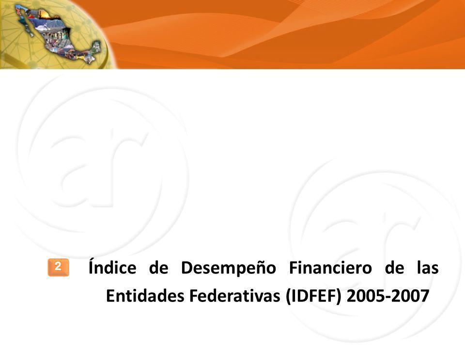 Índice de Desempeño Financiero de las Entidades Federativas (IDFEF) 2005-2007