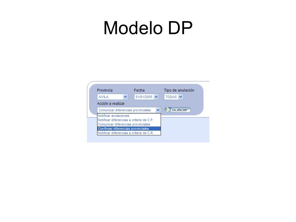 Modelo DP Con las recetas anuladas en cada mes, es necesario incluir las diferencias detectadas en el siguiente parte estadístico.