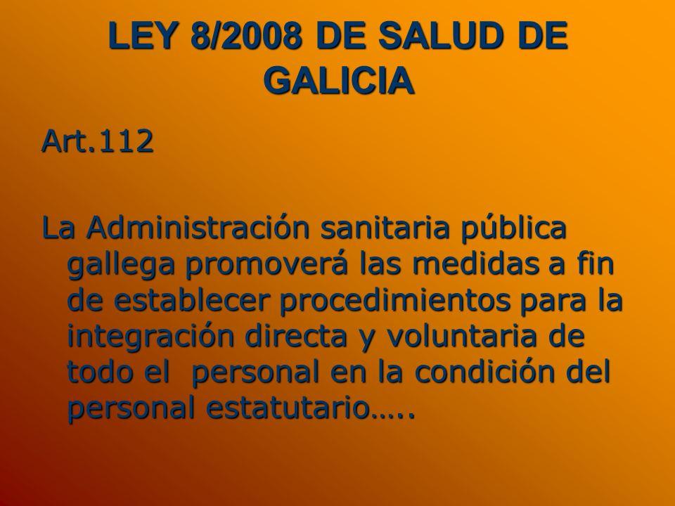 LEY 8/2008 DE SALUD DE GALICIA