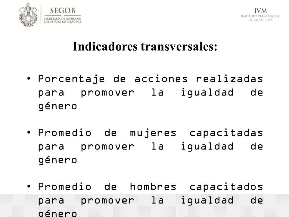 Indicadores transversales: