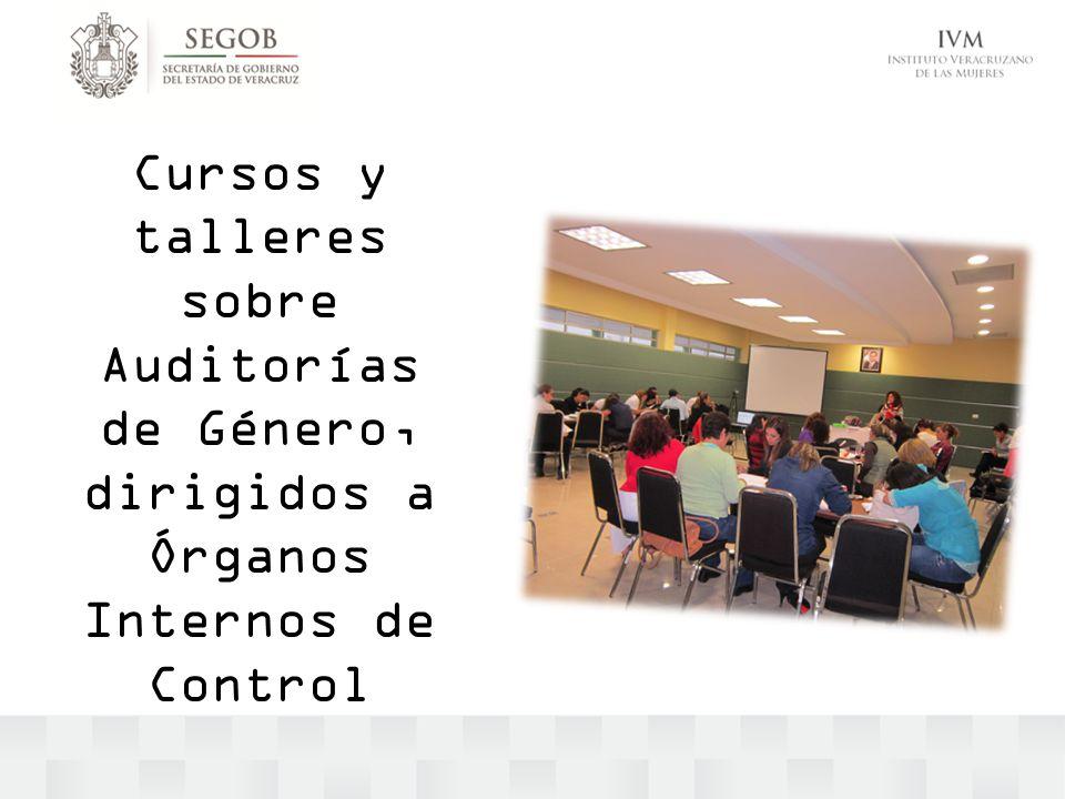 Cursos y talleres sobre Auditorías de Género, dirigidos a Órganos Internos de Control