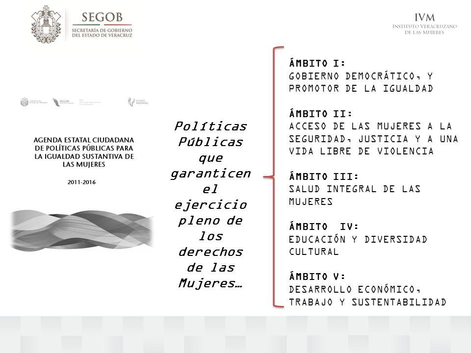 ÁMBITO I: GOBIERNO DEMOCRÁTICO, Y PROMOTOR DE LA IGUALDAD. ÁMBITO II: