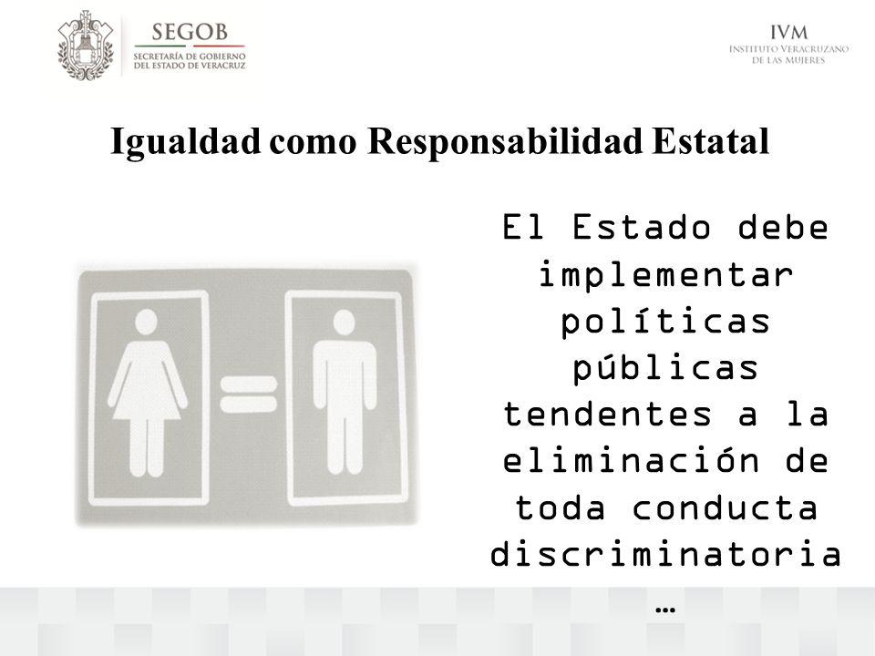 Igualdad como Responsabilidad Estatal