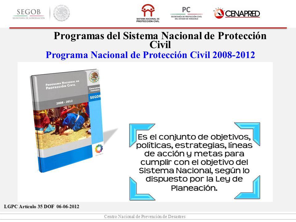 Programas del Sistema Nacional de Protección Civil