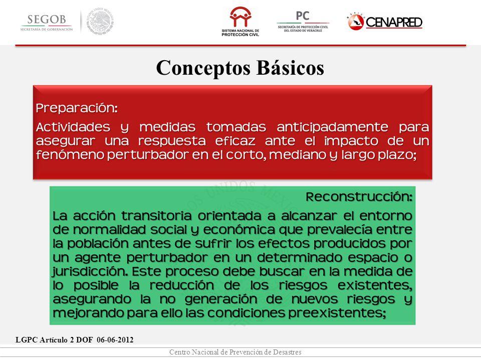 Conceptos Básicos LGPC Artículo 2 DOF 06-06-2012