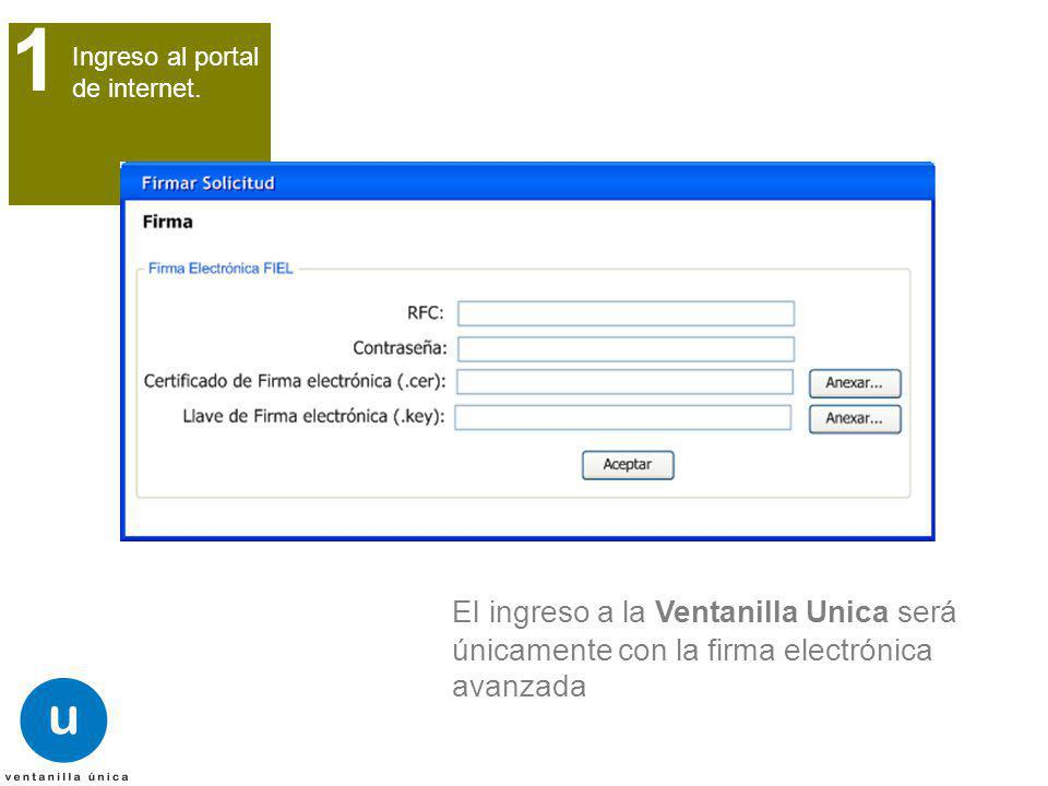 1 Ingreso al portal de internet.