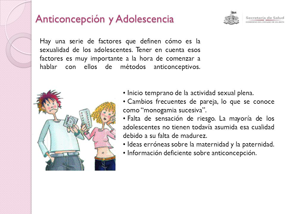 Anticoncepción y Adolescencia