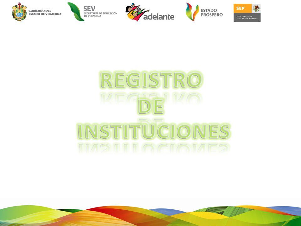 REGISTRO DE INSTITUCIONES