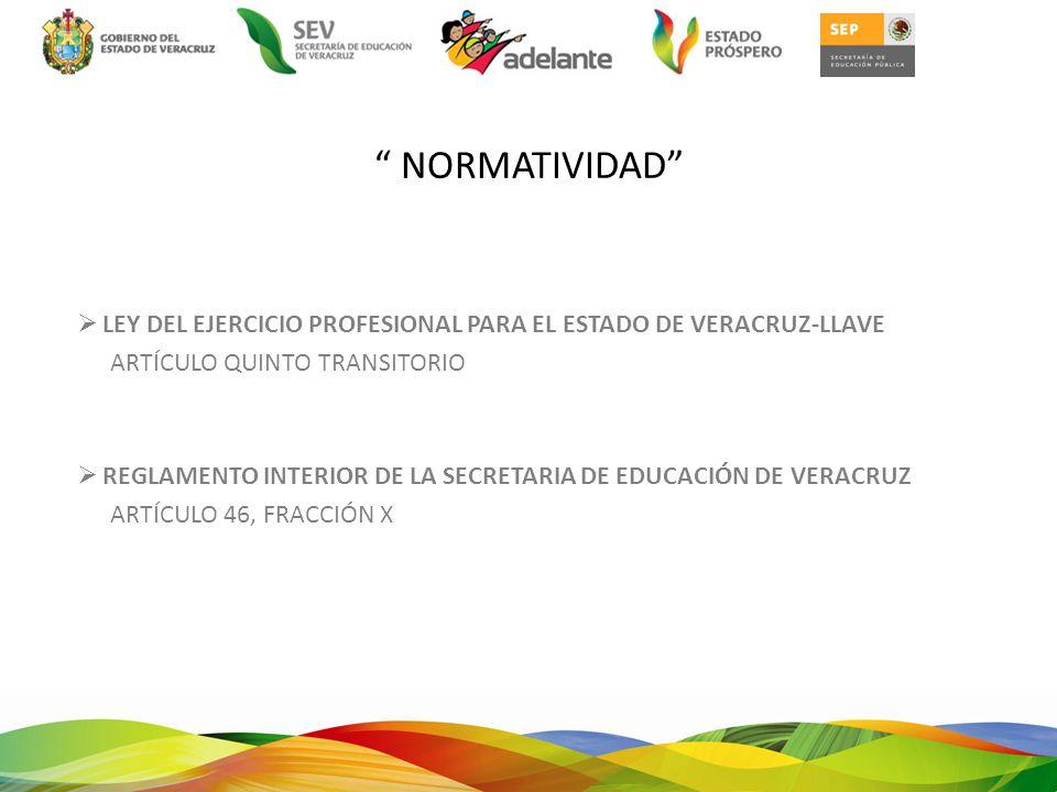 NORMATIVIDAD LEY DEL EJERCICIO PROFESIONAL PARA EL ESTADO DE VERACRUZ-LLAVE. ARTÍCULO QUINTO TRANSITORIO.