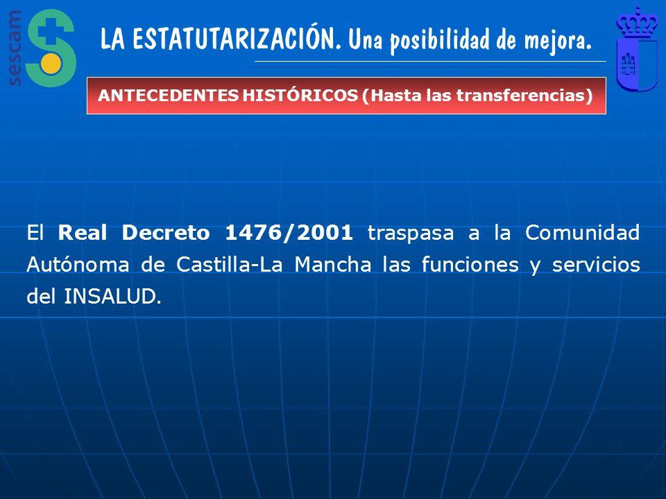 ANTECEDENTES HISTÓRICOS (Hasta las transferencias)