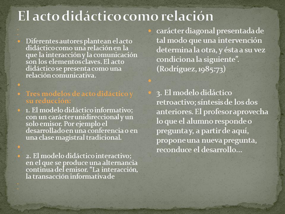 El acto didáctico como relación