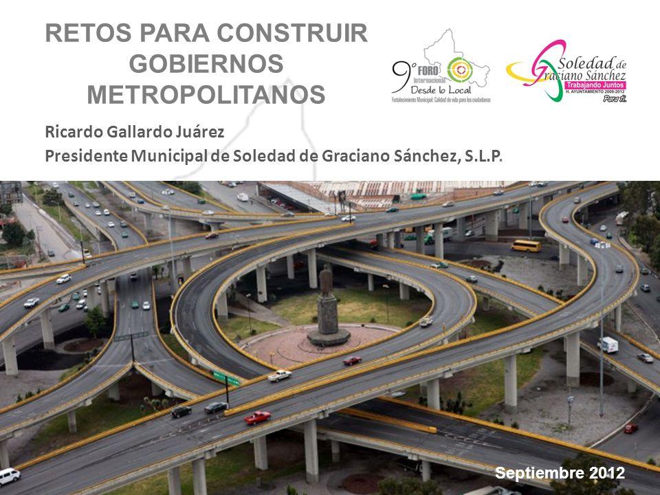 RETOS PARA CONSTRUIR GOBIERNOS METROPOLITANOS