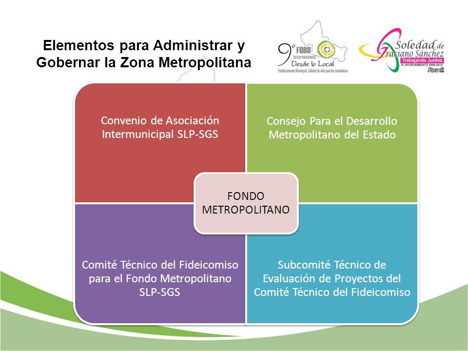 Elementos para Administrar y Gobernar la Zona Metropolitana