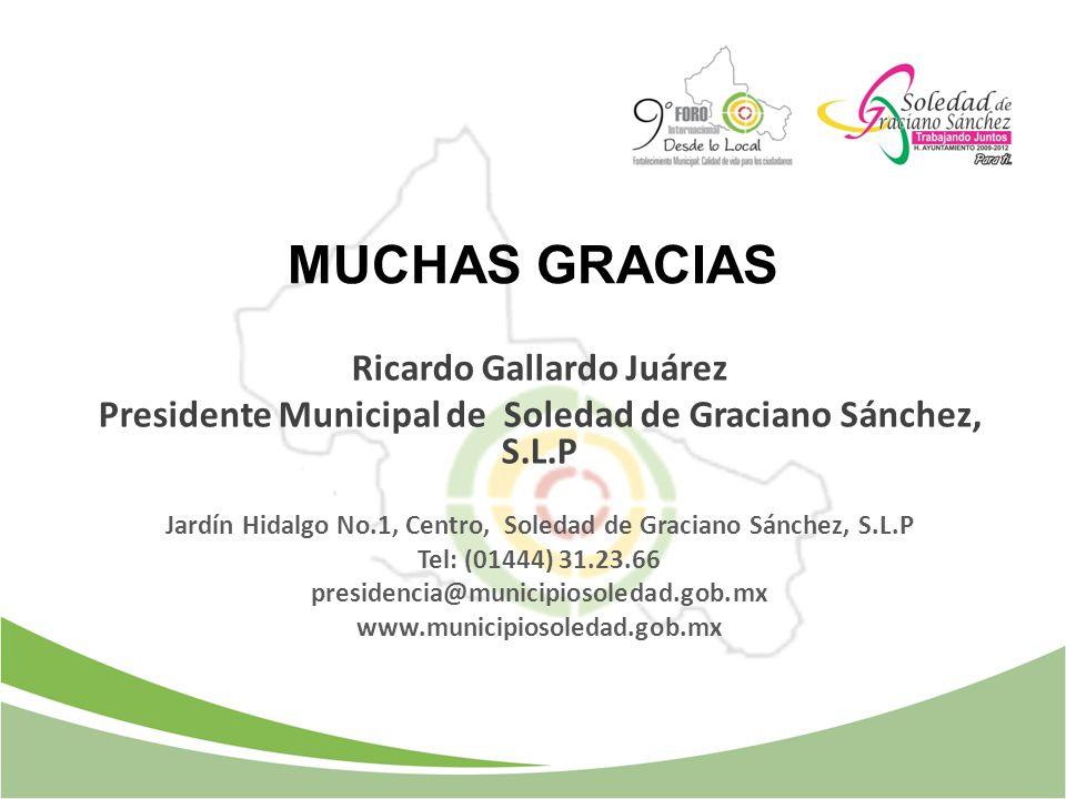 MUCHAS GRACIAS Ricardo Gallardo Juárez