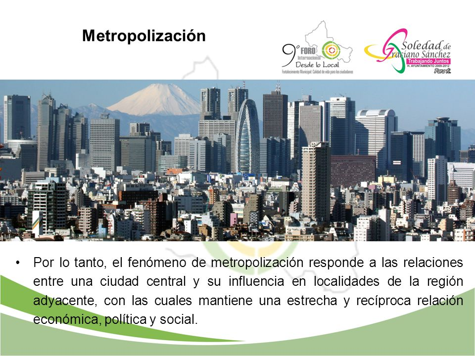 Metropolización