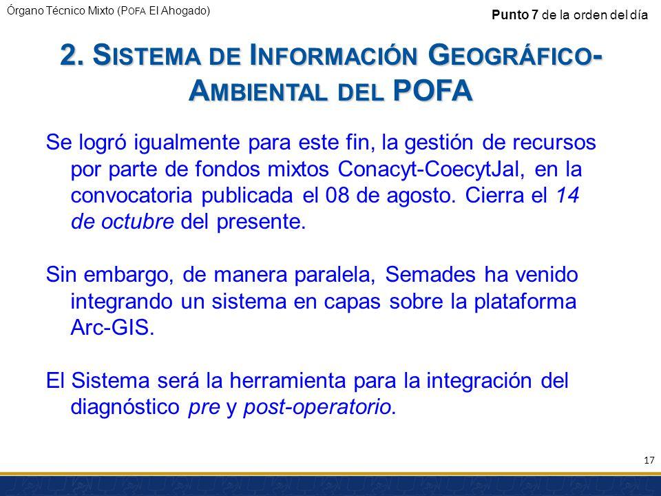 2. Sistema de Información Geográfico-Ambiental del POFA