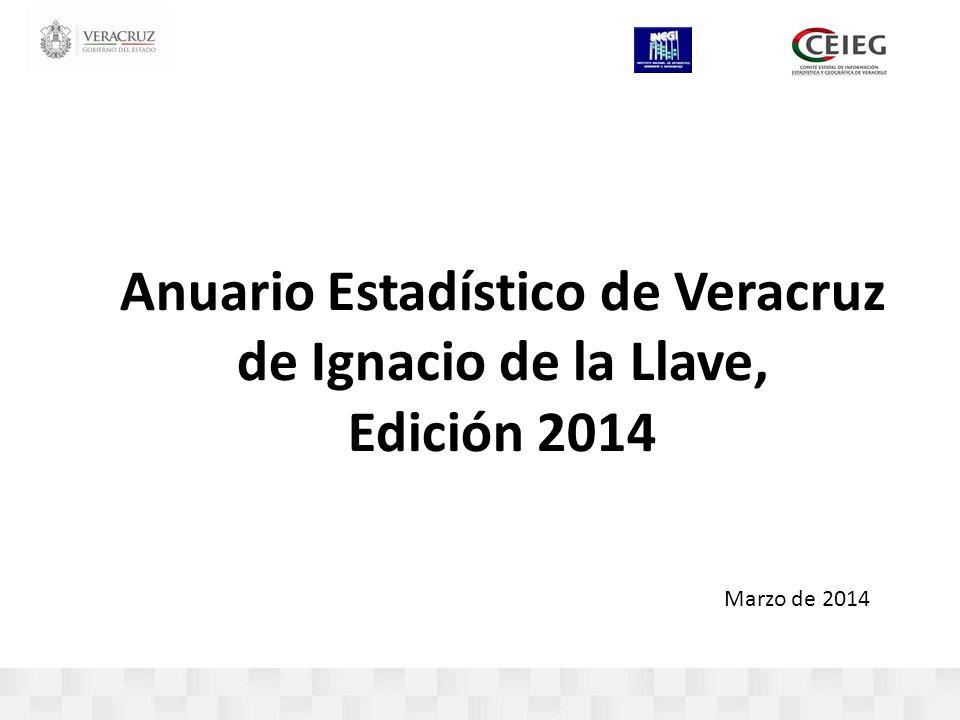 Anuario Estadístico de Veracruz de Ignacio de la Llave, Edición 2014