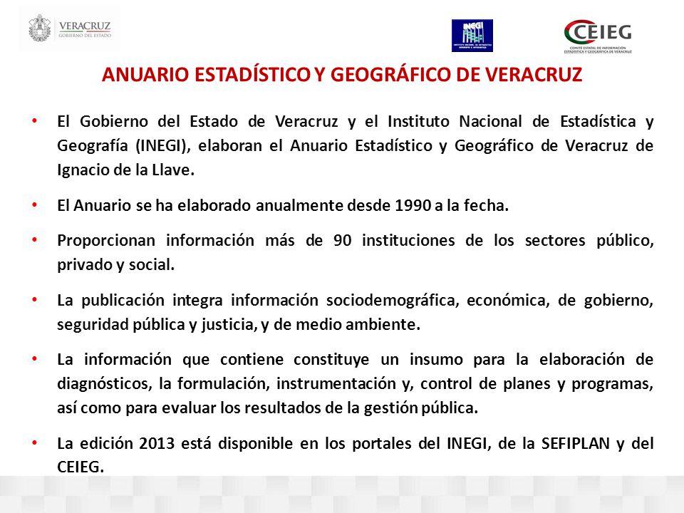 ANUARIO ESTADÍSTICO Y GEOGRÁFICO DE VERACRUZ