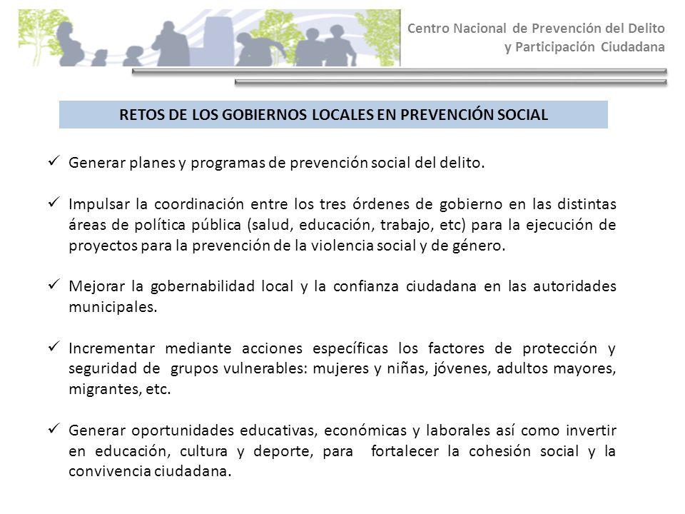 RETOS DE LOS GOBIERNOS LOCALES EN PREVENCIÓN SOCIAL