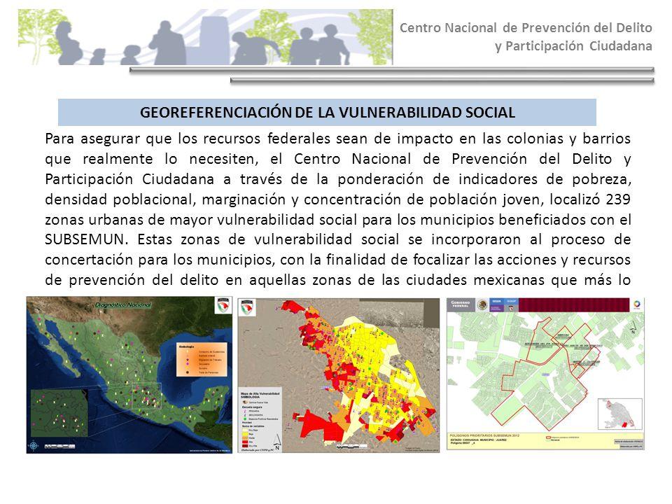 GEOREFERENCIACIÓN DE LA VULNERABILIDAD SOCIAL