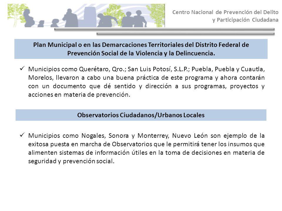 Observatorios Ciudadanos/Urbanos Locales