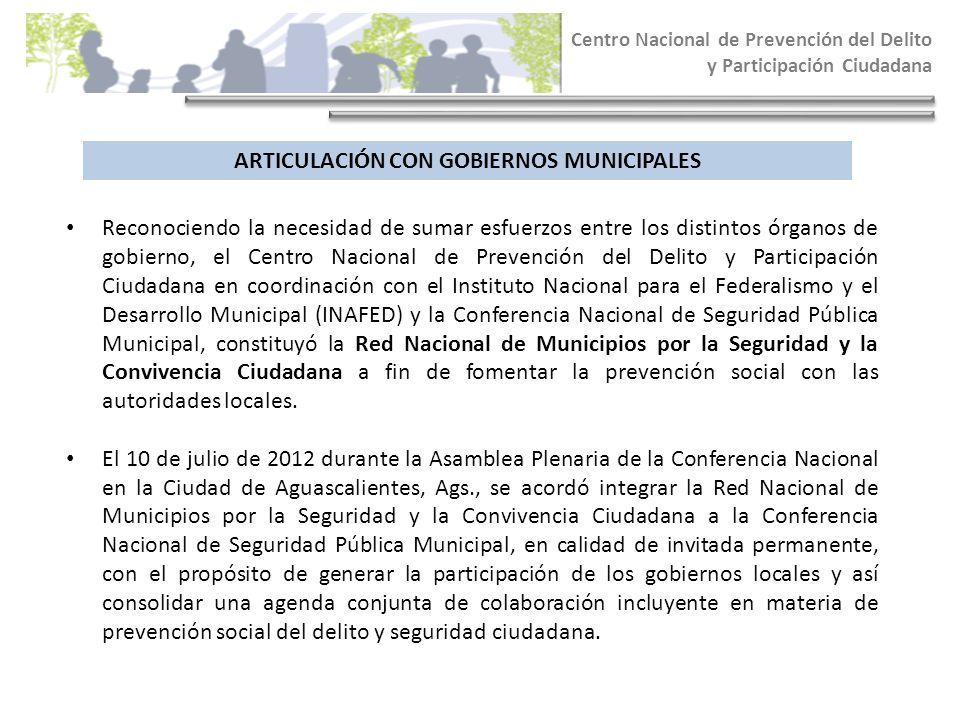 ARTICULACIÓN CON GOBIERNOS MUNICIPALES
