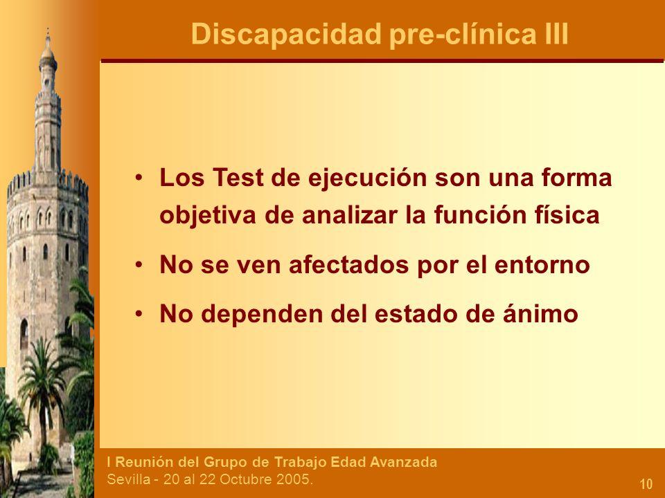 Discapacidad pre-clínica III