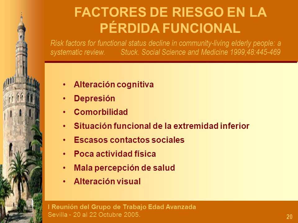 FACTORES DE RIESGO EN LA PÉRDIDA FUNCIONAL