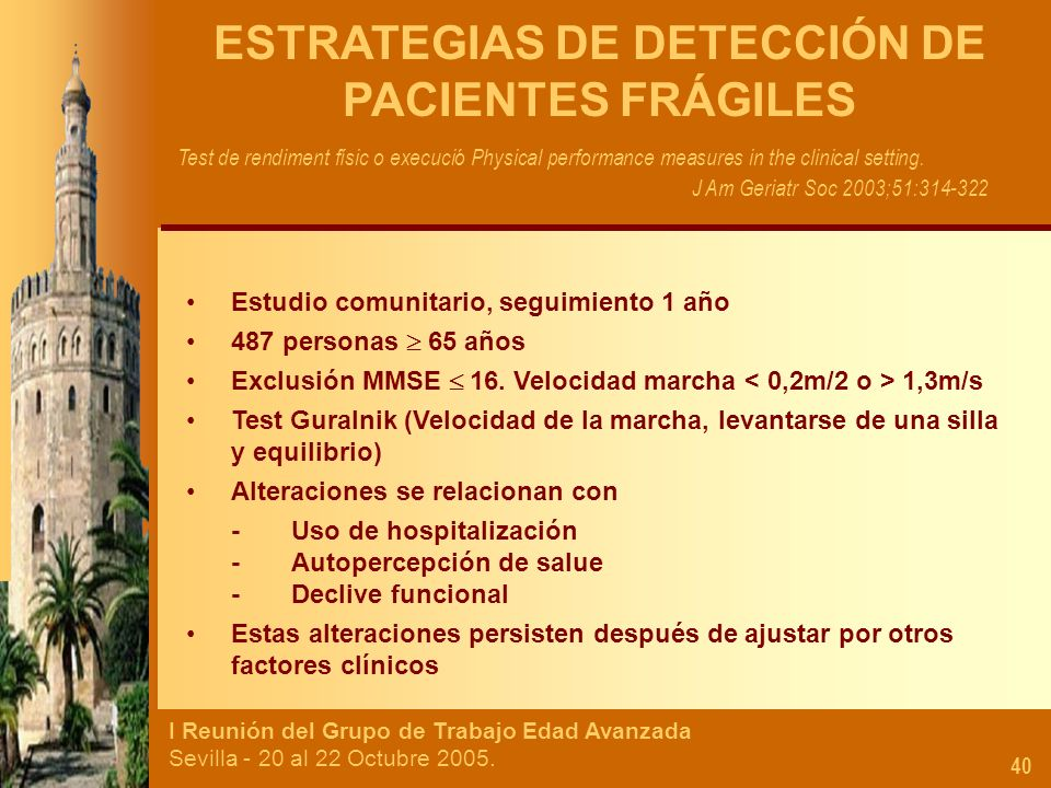 ESTRATEGIAS DE DETECCIÓN DE PACIENTES FRÁGILES