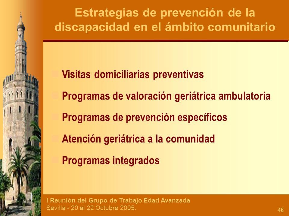 Estrategias de prevención de la discapacidad en el ámbito comunitario