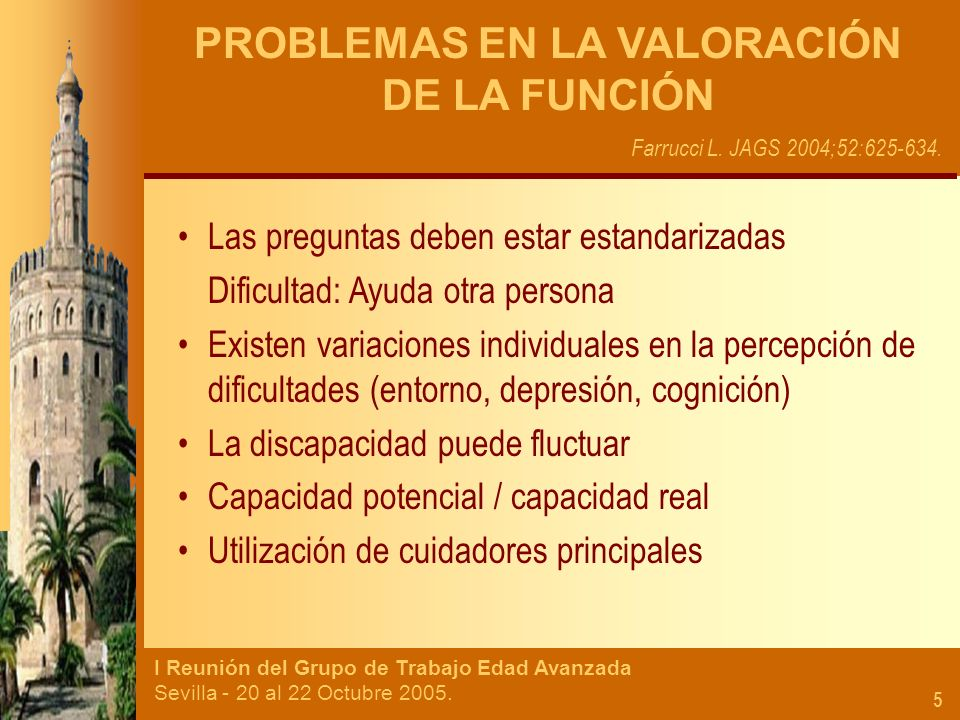 PROBLEMAS EN LA VALORACIÓN DE LA FUNCIÓN