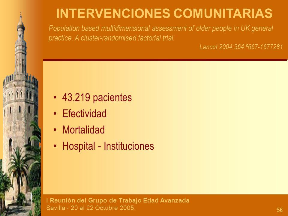 INTERVENCIONES COMUNITARIAS