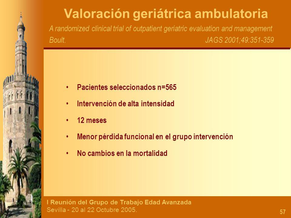 Valoración geriátrica ambulatoria