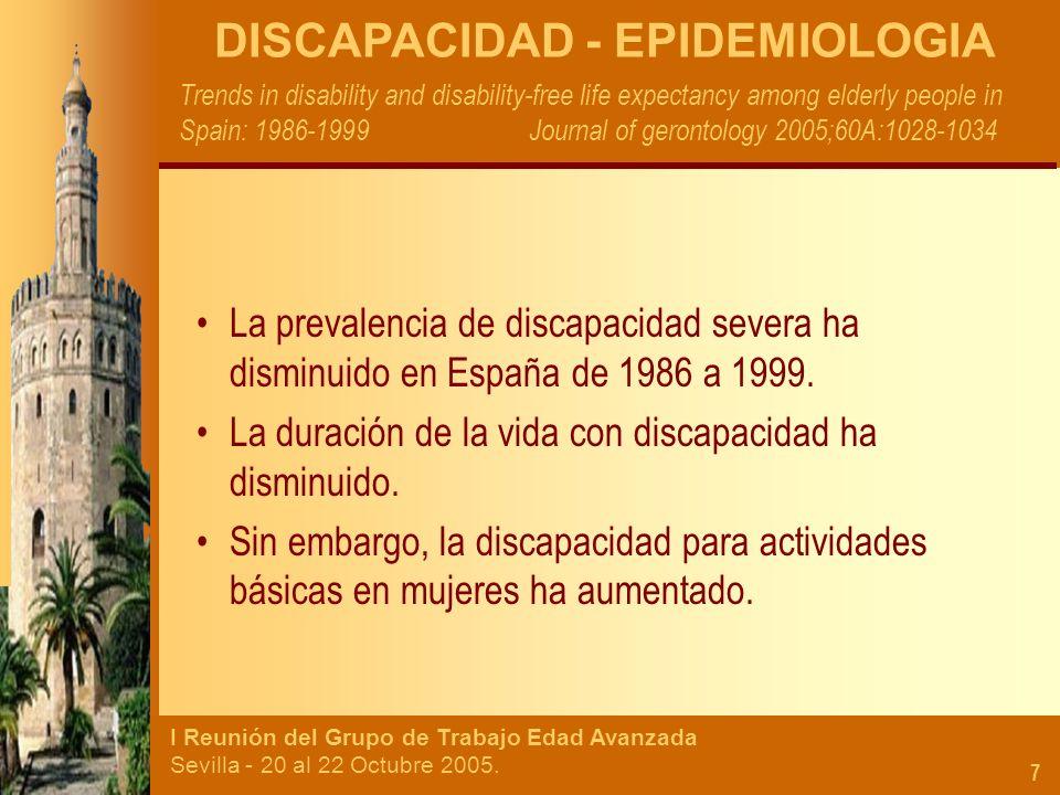 DISCAPACIDAD - EPIDEMIOLOGIA