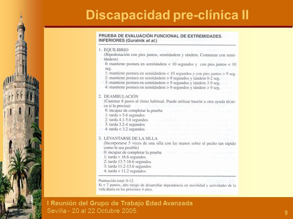 Discapacidad pre-clínica II