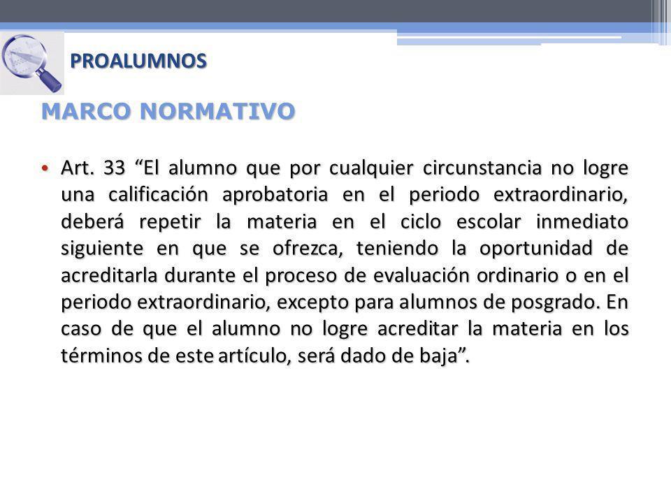 PROALUMNOS MARCO NORMATIVO.